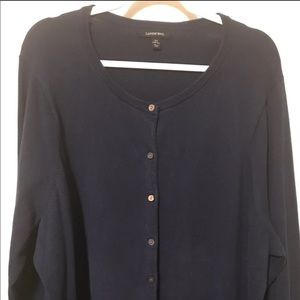 Women's Plus Size Navy Cardigan-Size 3X (24/26)